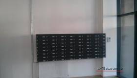 Nástenná zostava poštových schránok